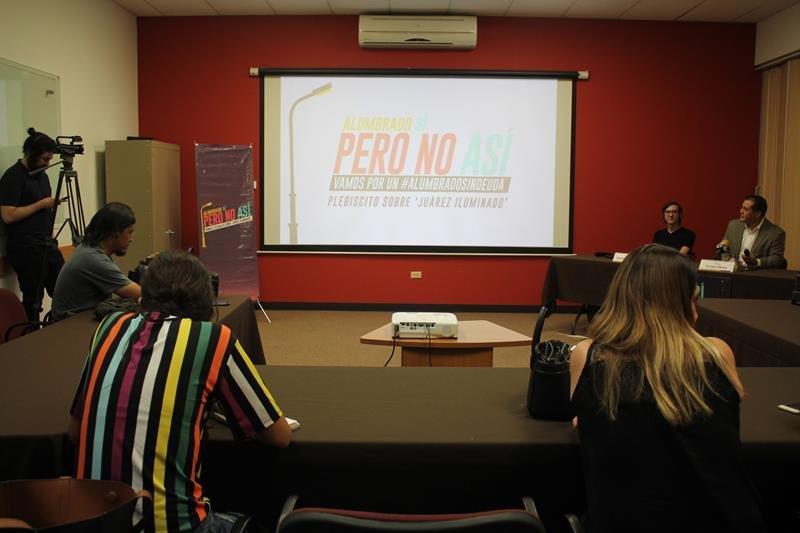 Rueda de Prensa: Proceso de recolección de firmas para el plebiscito sobre 'Juárez Iluminado' 1